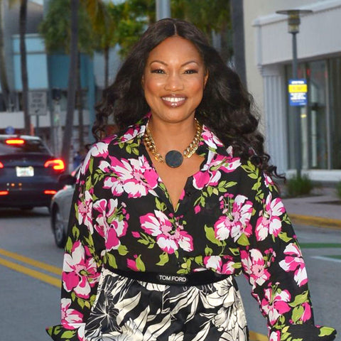 Garcelle Beauvais wearing jewelry by Jenny Dayco
