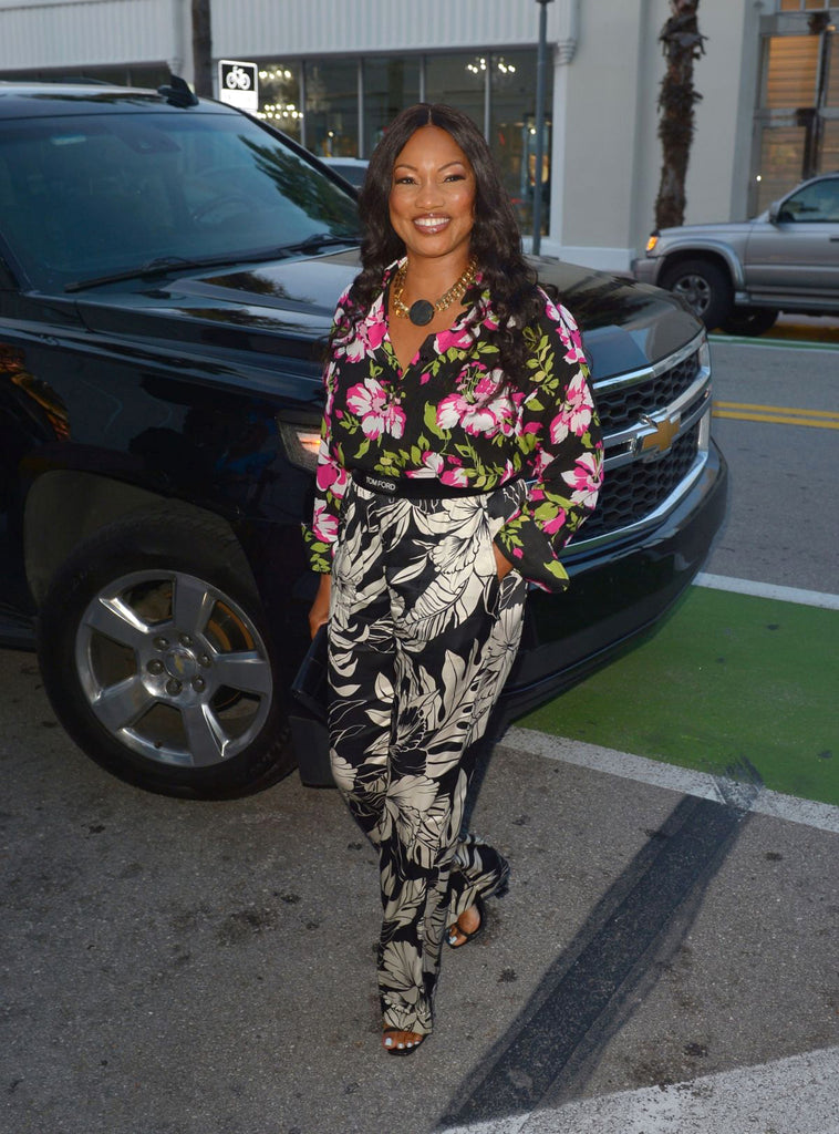 Garcelle Beauvais wearing a black onyx necklace by Jenny Dayco