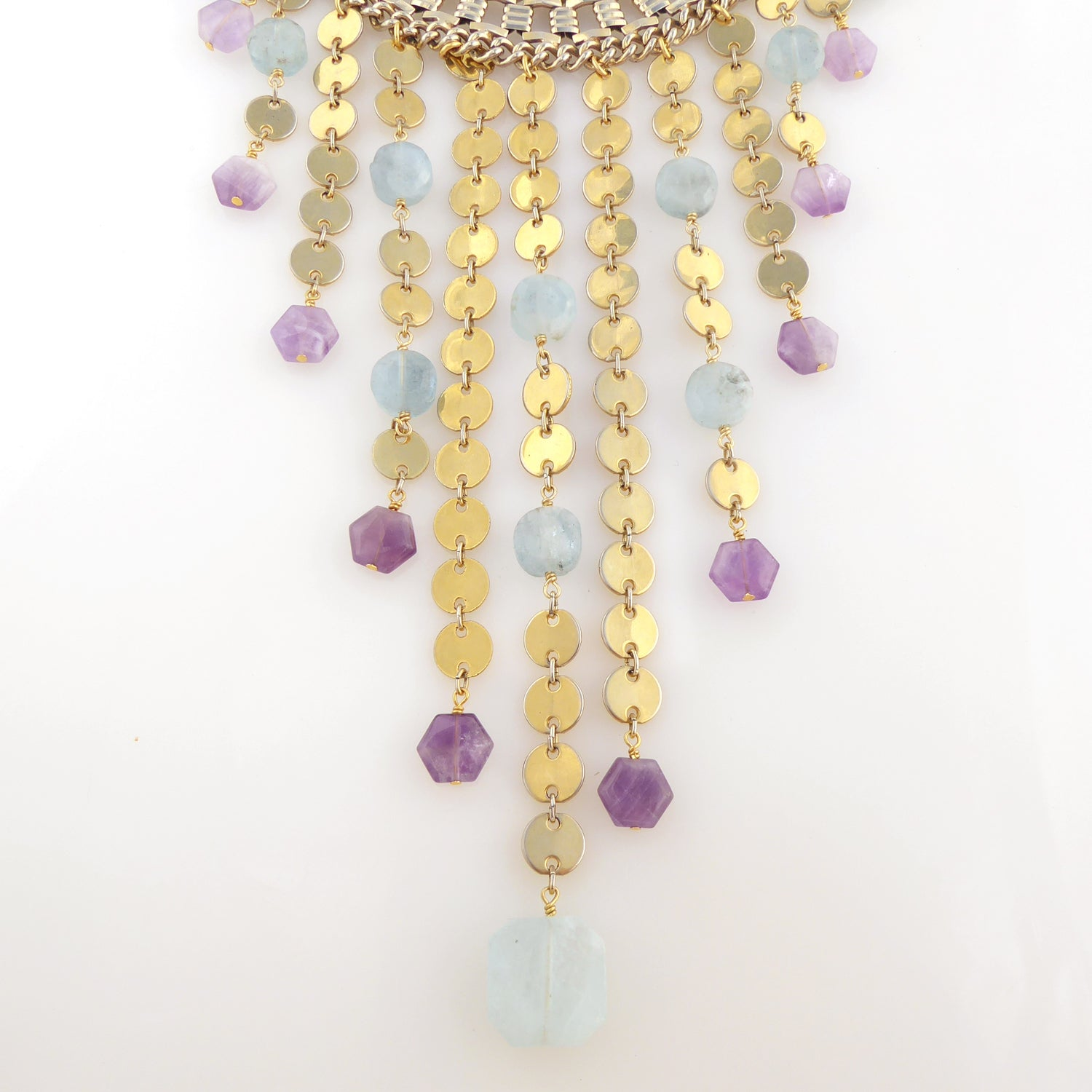Carmeline aquamarine and amethyst necklace by Jenny Dayco 3