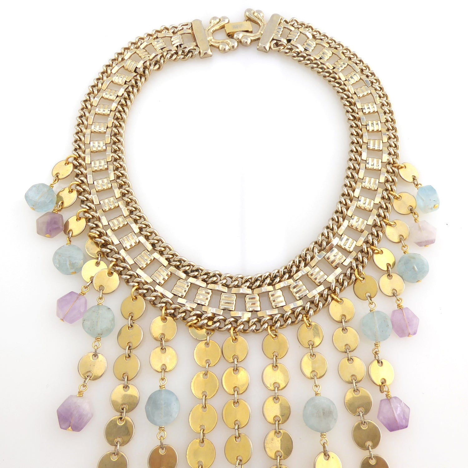 Carmeline aquamarine and amethyst necklace by Jenny Dayco 4