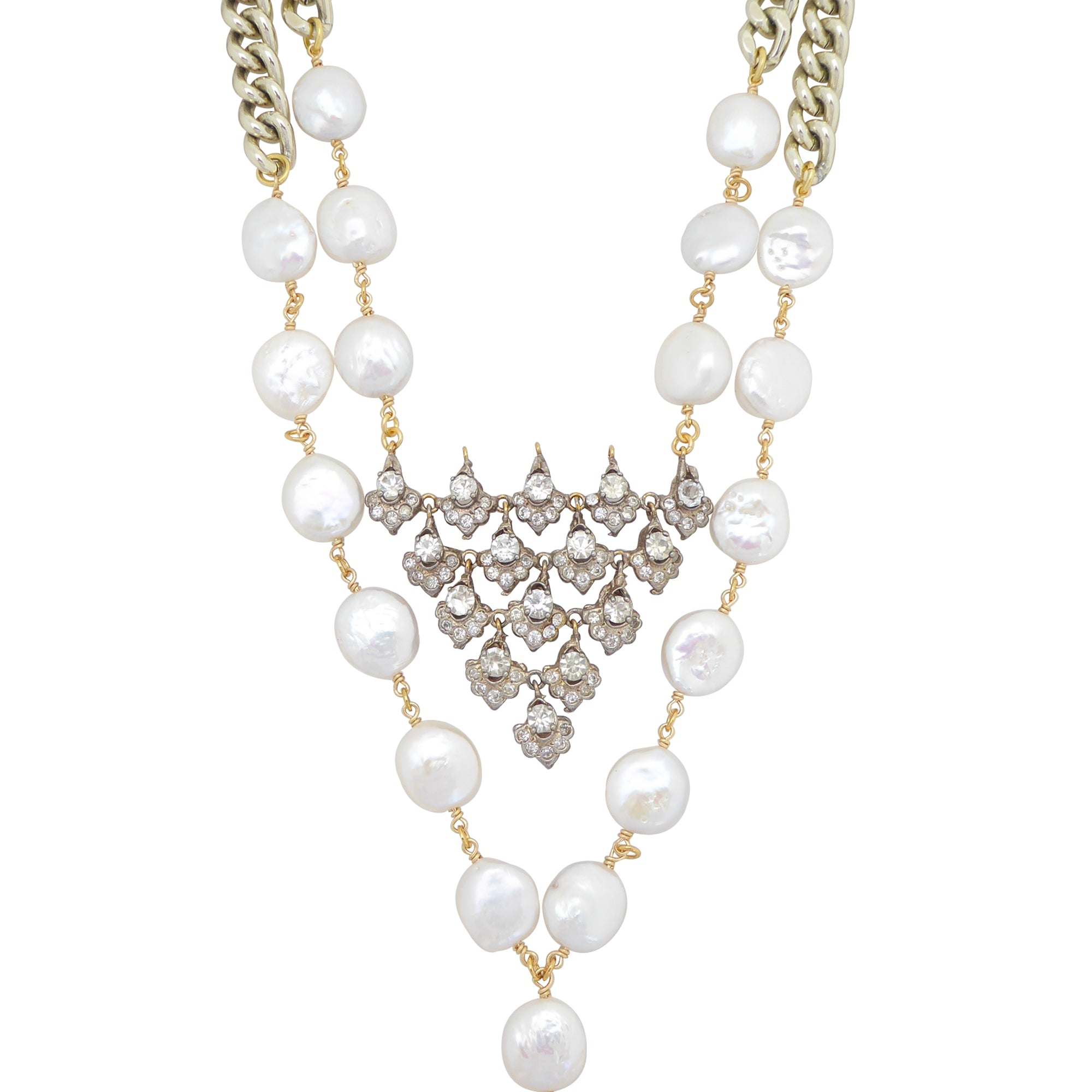Celestial pearl necklace