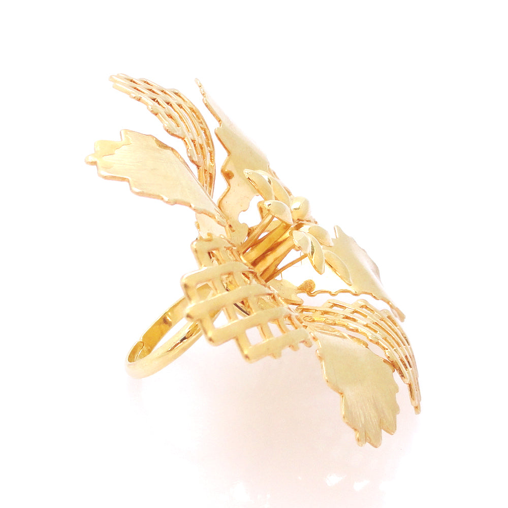 Gold abstract flower ring by Jenny Dayco 3
