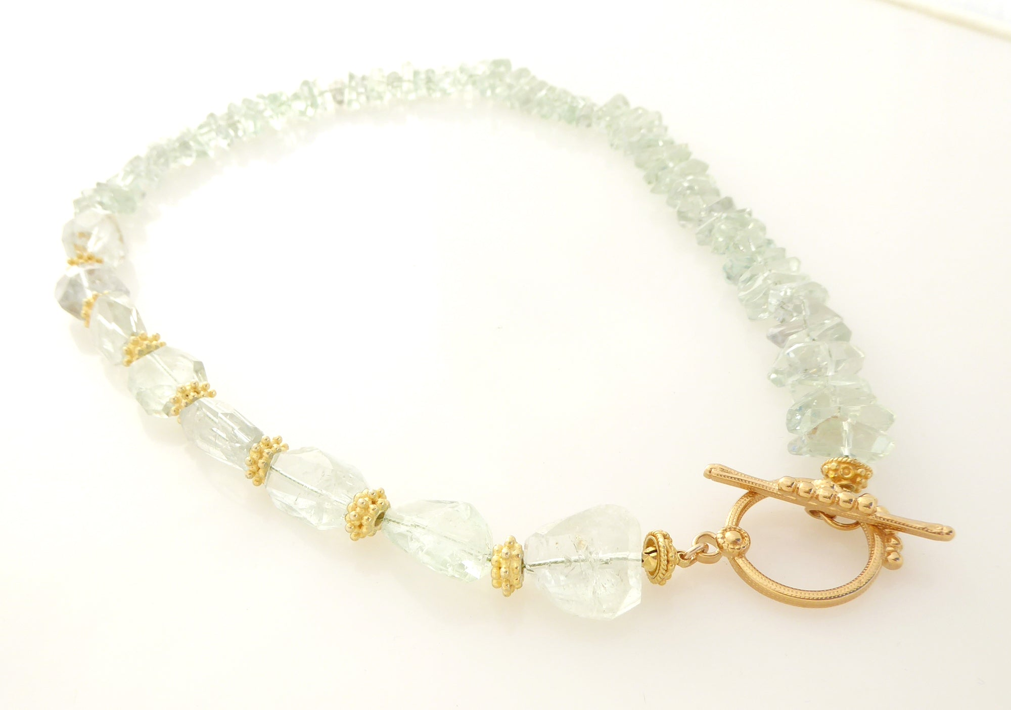Green amethyst toggle necklace