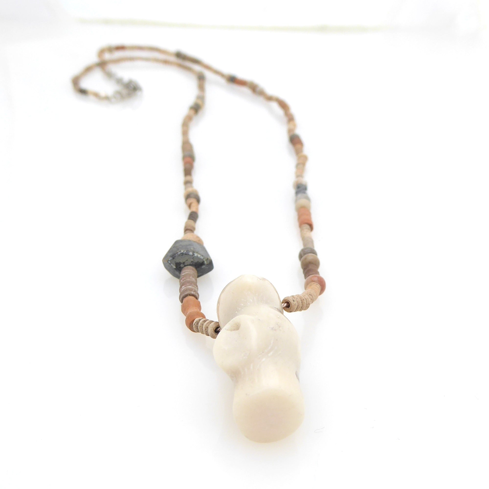 Clay and coral necklace