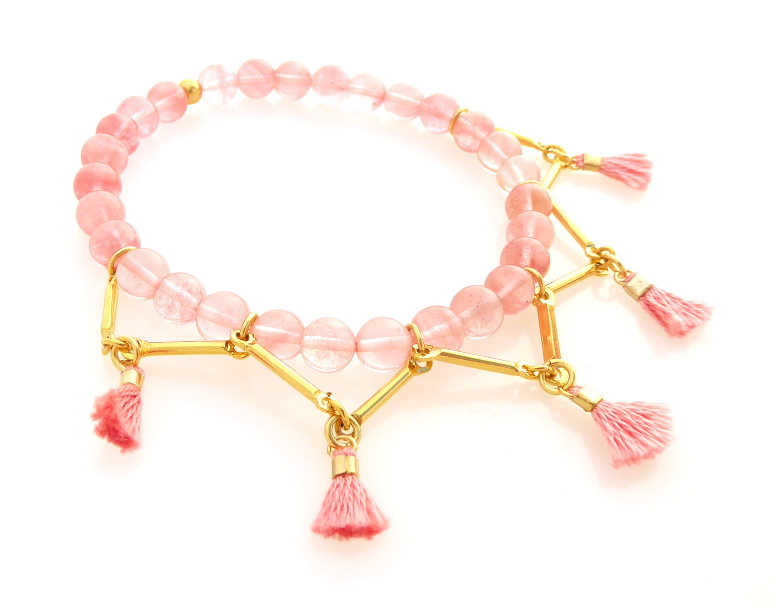 Lalita bracelet in cherry quartz