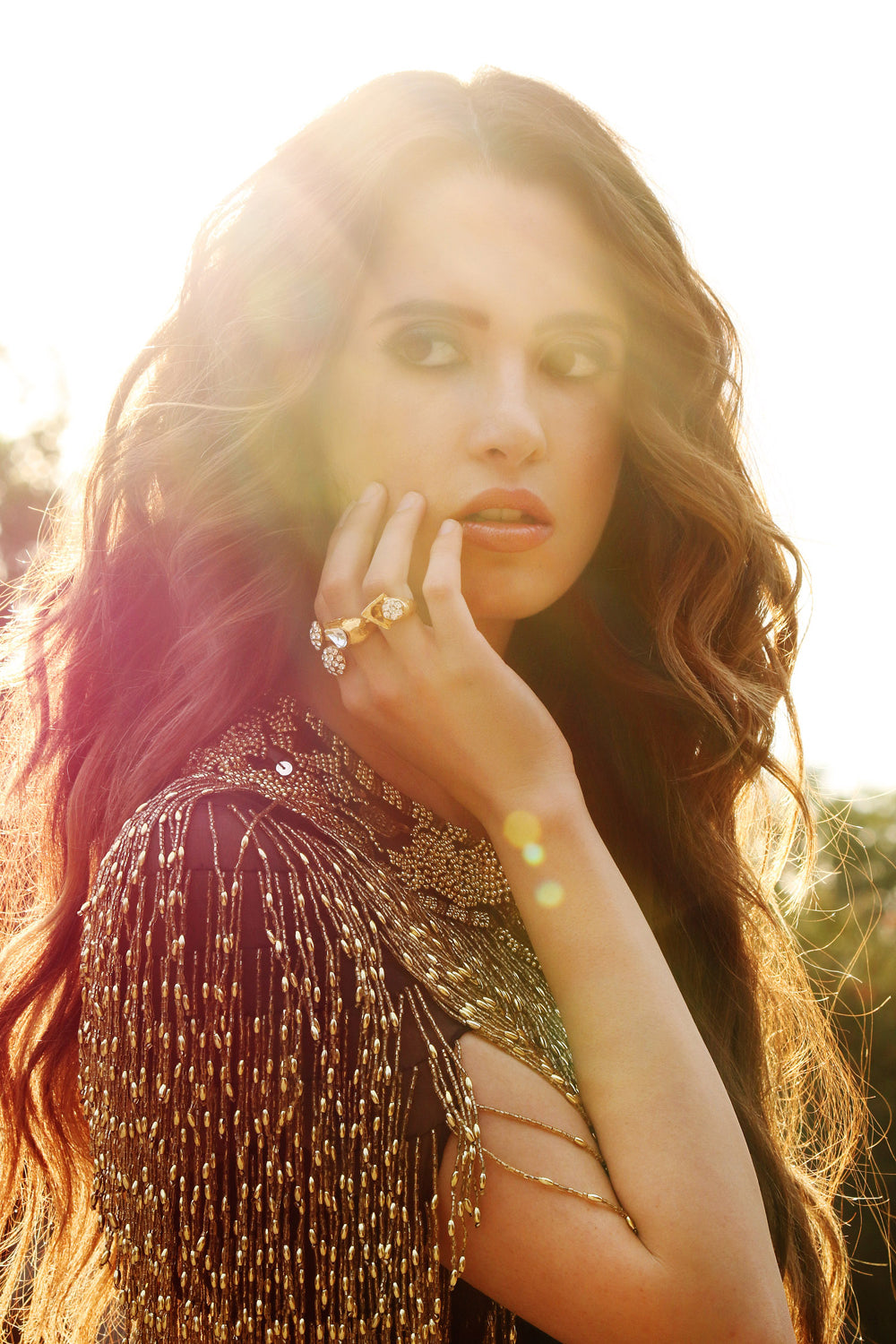 Laura Marano in Jamo magazine wearing Jenny Dayco rings