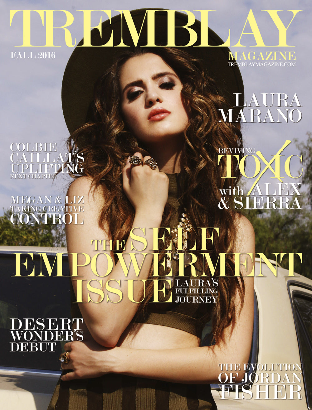 Laura Marano in Tremblay magazine wearing Jenny Dayco rings and necklace 1