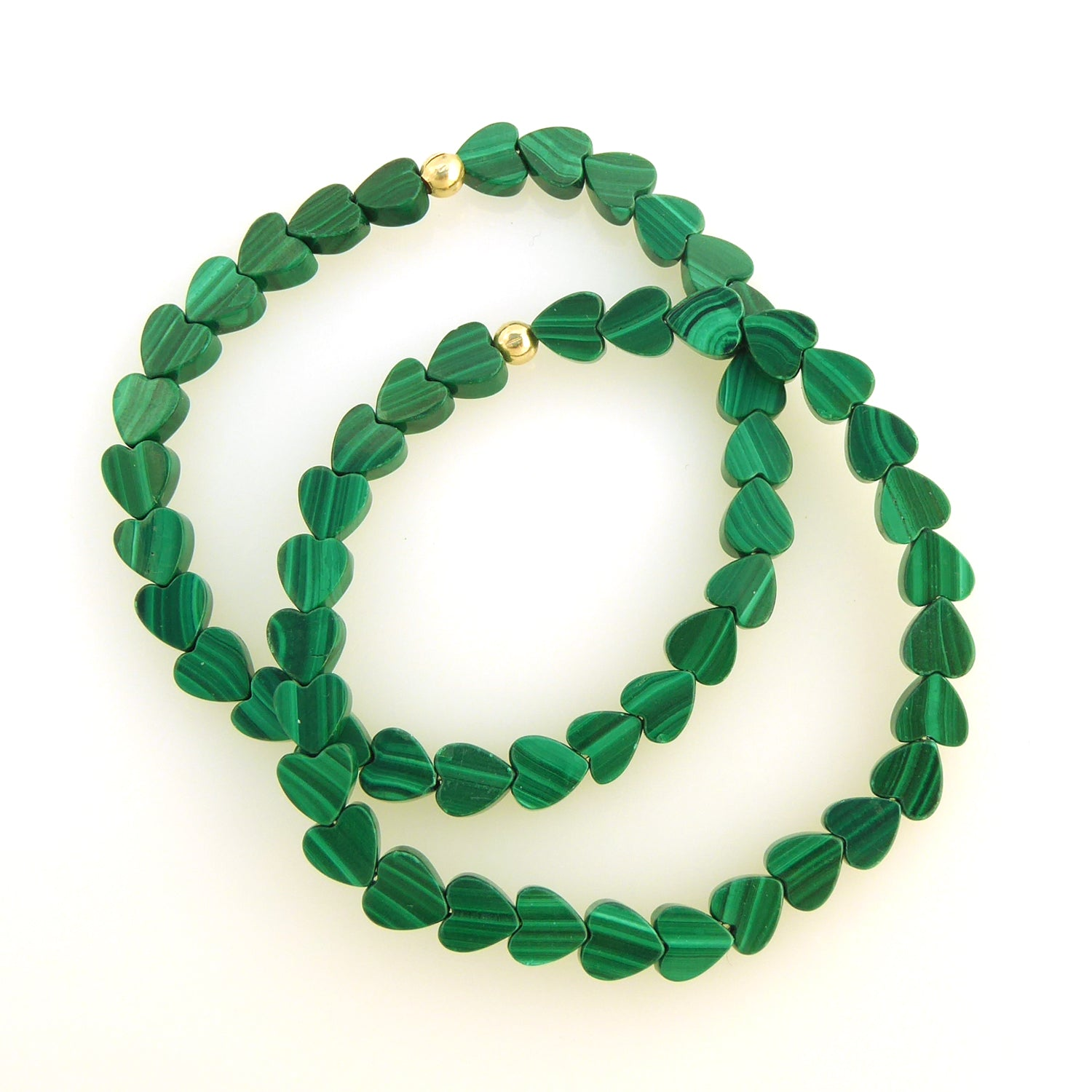 Malachite heart bracelet set by Jenny Dayco 1