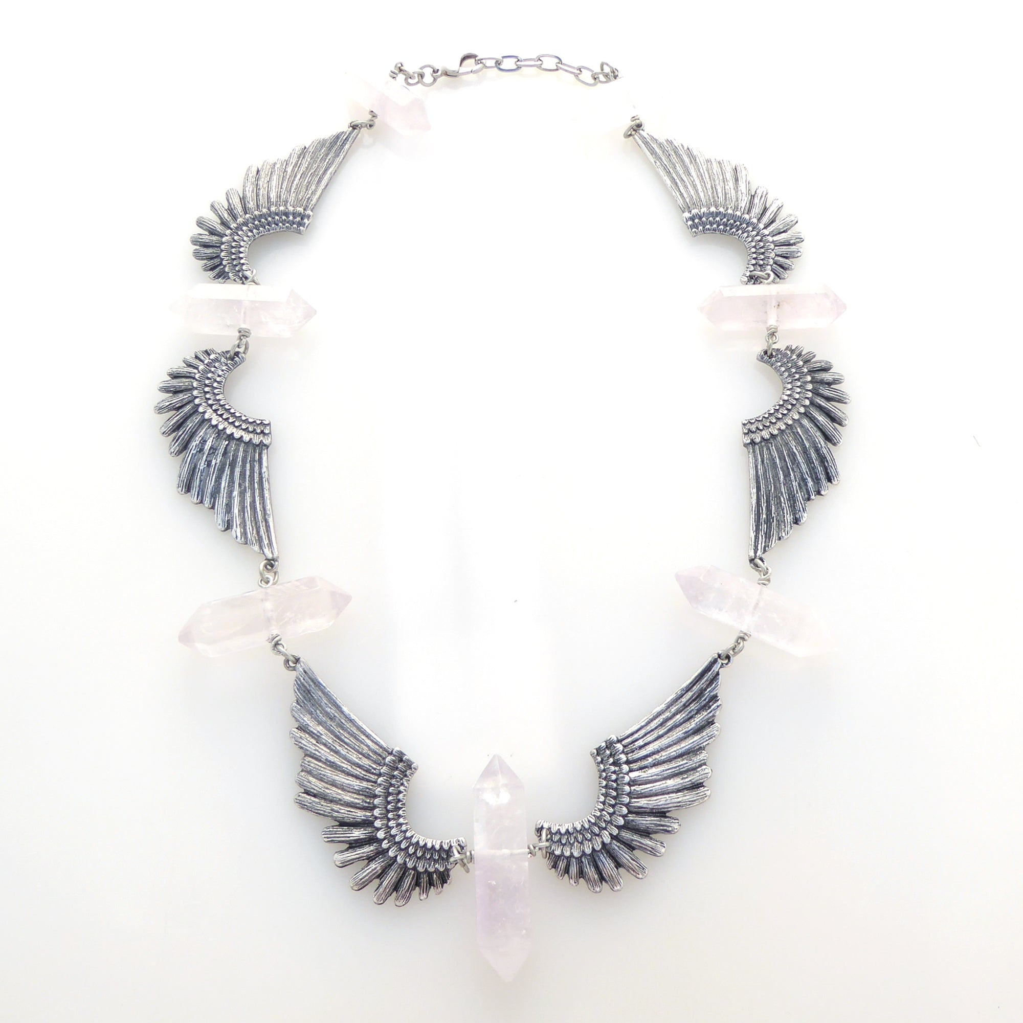 Parendi wing quartz necklace