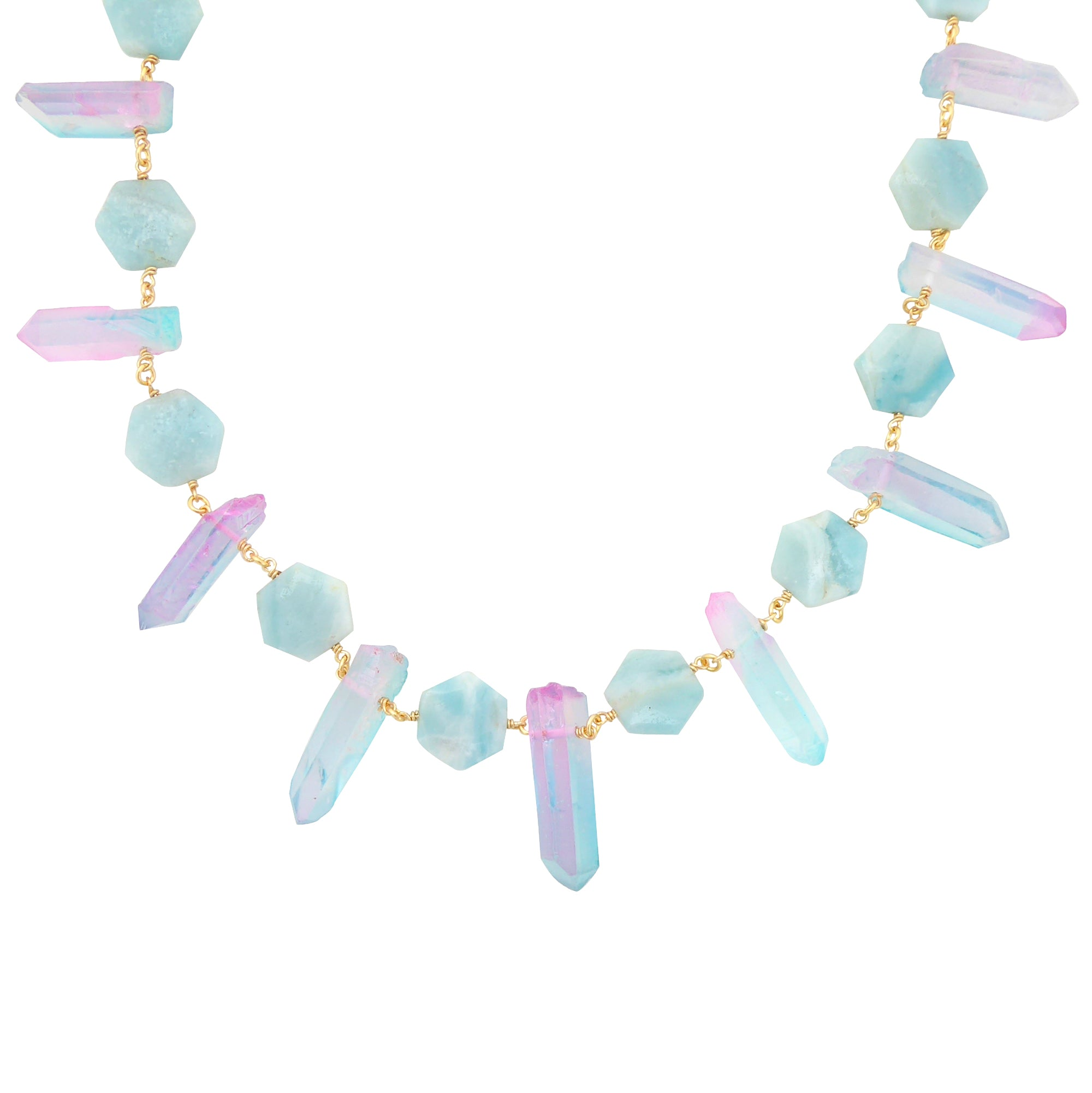 Pastel crystal necklace