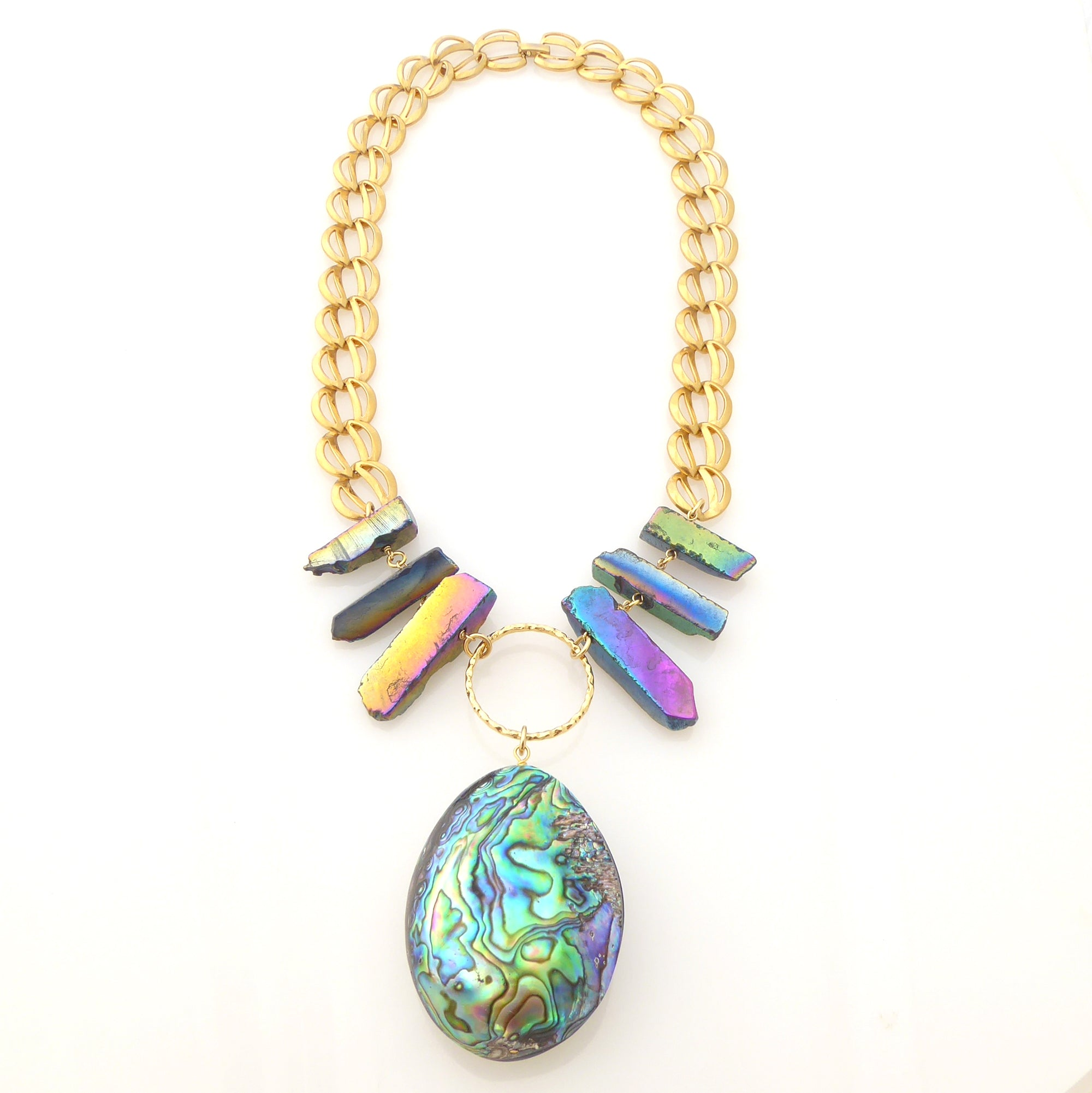 Paua teardrop necklace