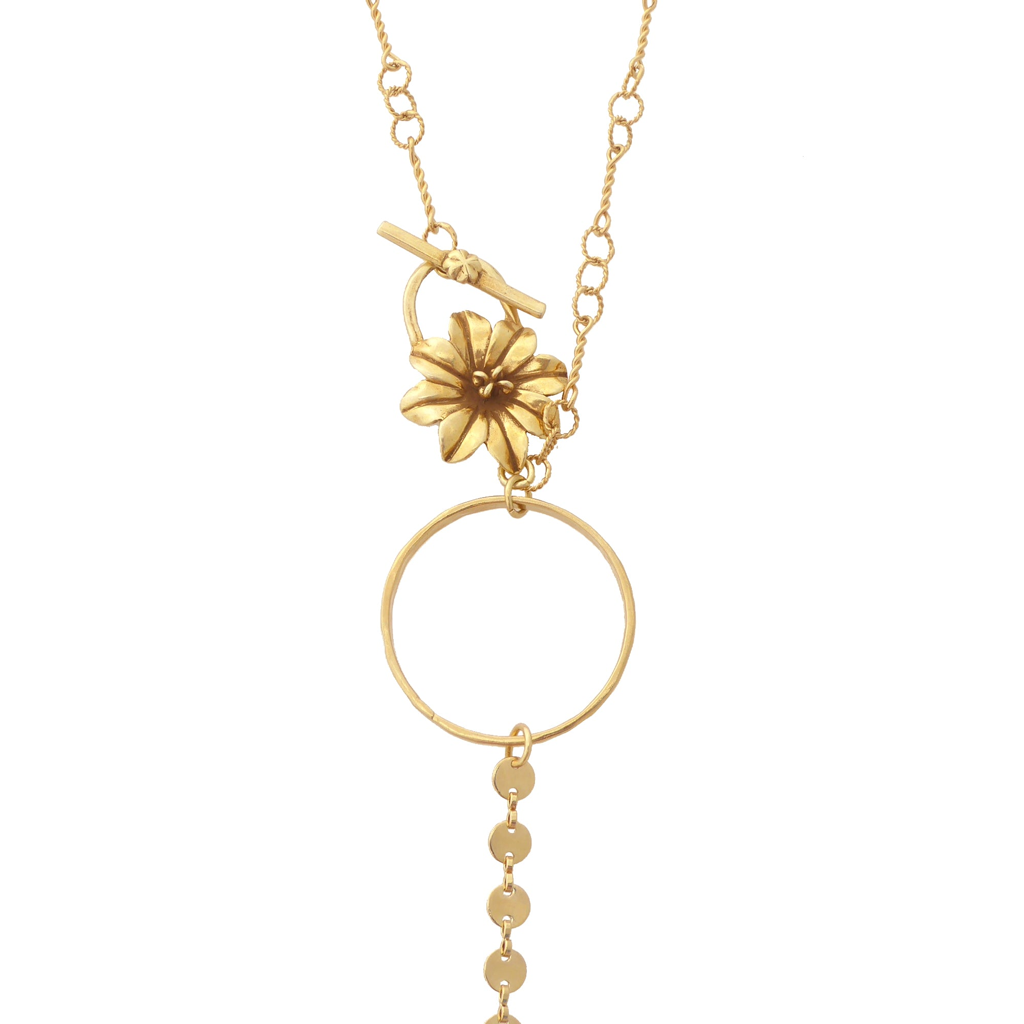Daisy toggle necklace