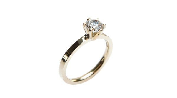 Modern Claw Set Diamond Engagement Ring