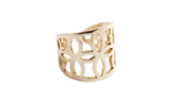 Geometric Everyday Gold Band