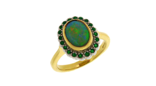 A Modern Yet Classic Opal Cluster Ring