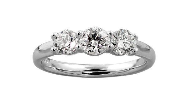 Platinum And Diamond Trilogy Ring