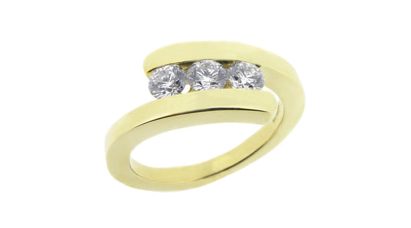 A Redesign Gold And Diamond Ring
