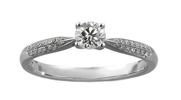 A Sharp Single Stone Engagement Ring