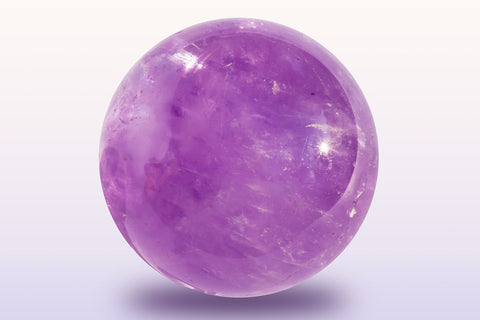 An amethyst sphere to use in hand made custom jewellery