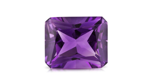 Rich Radiant cut amethyst to use within a bespoke jewellery design