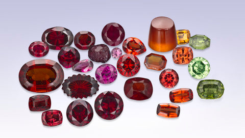 See the January birthstone of the garnet gemstone and all its hues