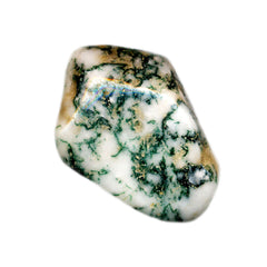 An example of Moss Agate which can be used in a personalised jewellery design
