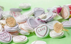 Love Heart Promise Rings including marry me and love you sayings