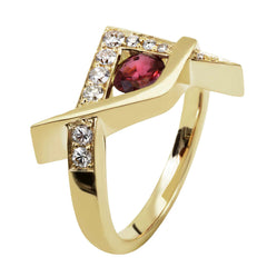 Redesigned bespoke ruby and diamond ring