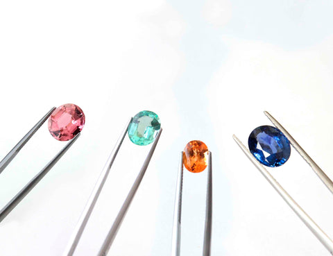 Different colours of sapphire to use within personalised sapphire jewellery