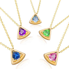 Wedge gemstone necklaces make the perfect mothers day gift