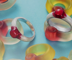 Haribo rings to use as commitment and proposal rings, like our child hood games