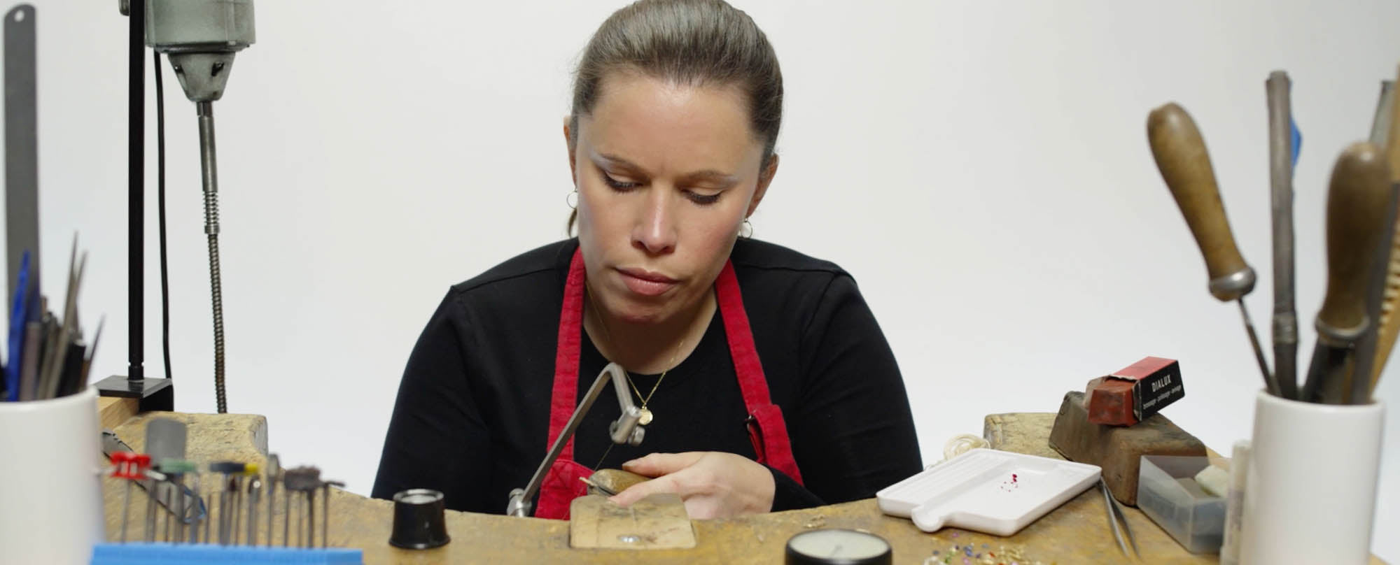 Bespoke Jewellery being made at the workshop by hand