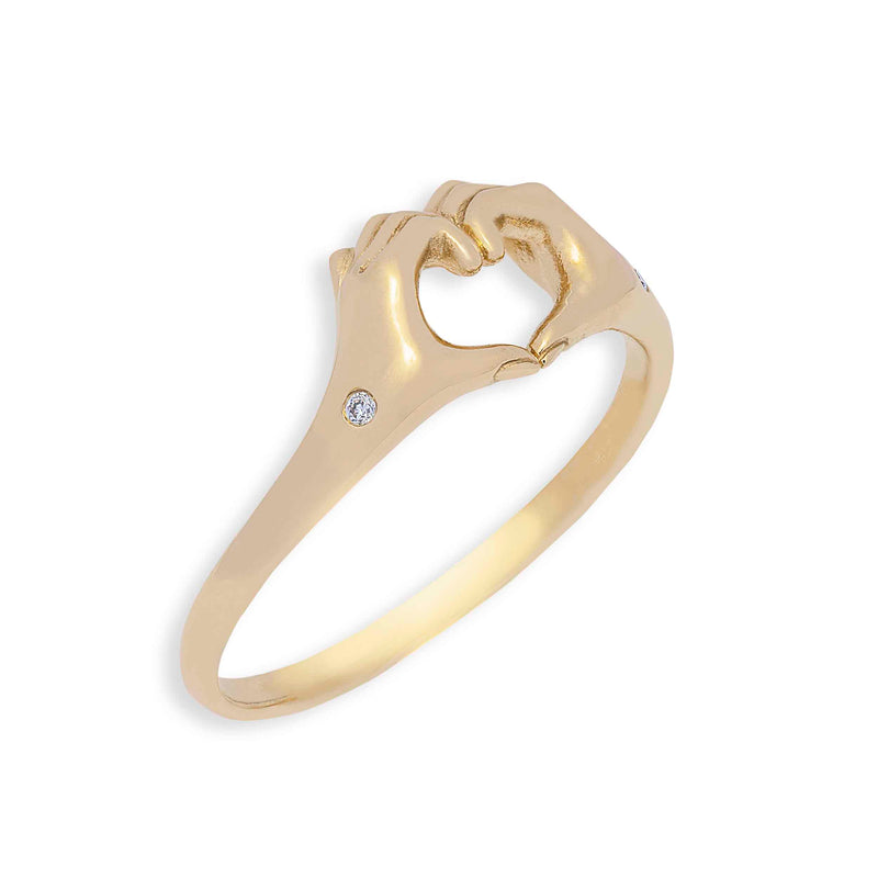 Origin 31 One love promise ring side view with diamonds to promise yourself some love