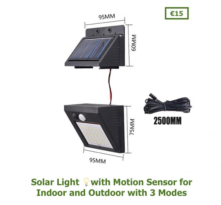 Solar Light 💡 with Motion Sensor for Indoor and Outdoor with 3 Modes