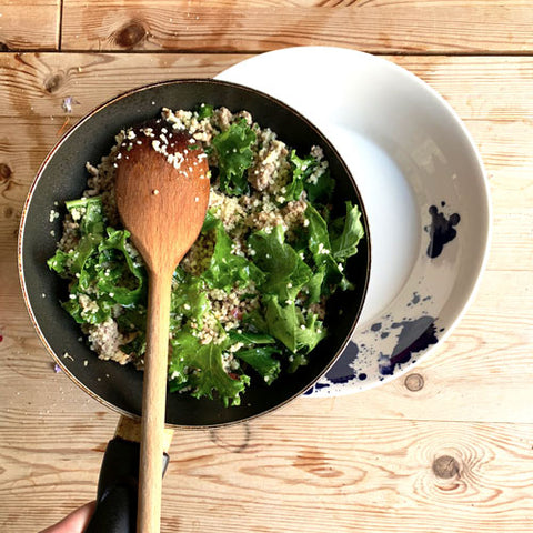 Kale and couscous recipe