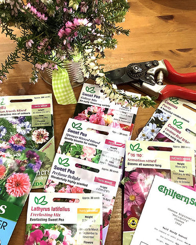 Sweet Pea Seed Packets from Chiltern Seeds