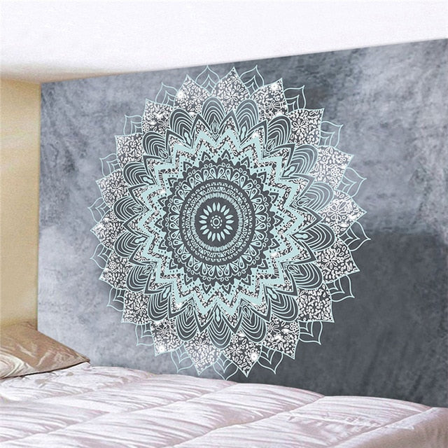 Mandala Polyester 180*230cm Square Tapestry Wall Hanging Carpet Throw | Home Bedroom Decoration