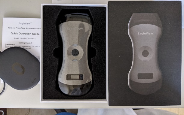 EagleView Ultrasound is paced in a compact box.