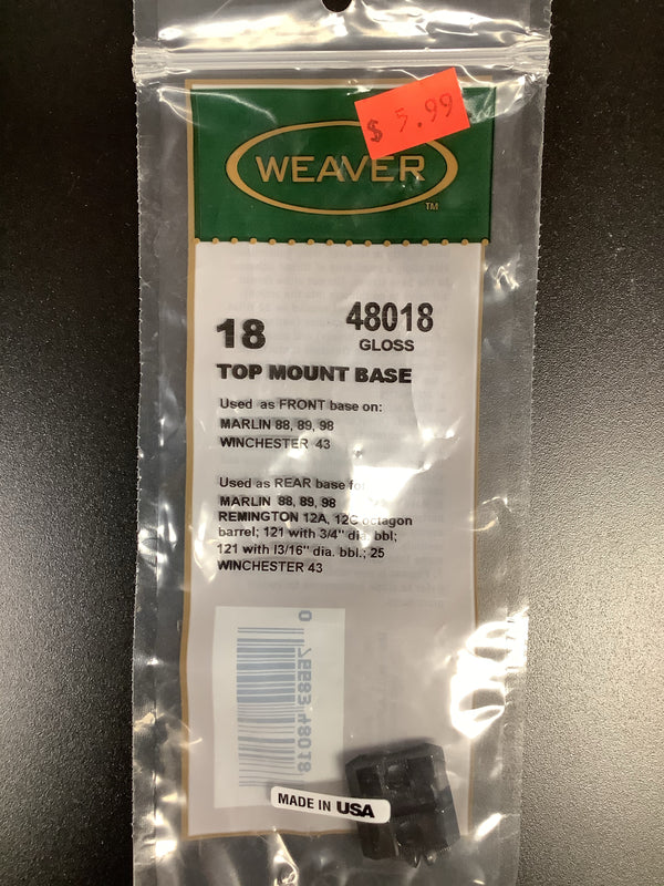 Weaver 18 48018 Marlin Scope Base