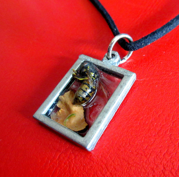 Bee in Resin Necklace 1 - Katy Stenberg-Baine