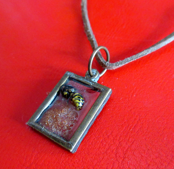 Bee in Resin Necklace 2 - Katy Stenberg-Baine