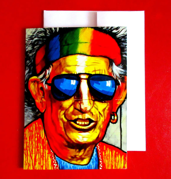 Keith Richards - 5.25 x 7.25 - Holger Majorahn