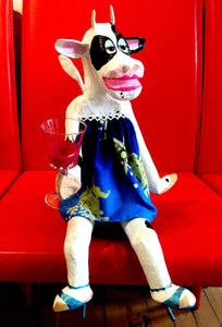 Wine Drinking Cow 1 - Karen Murray