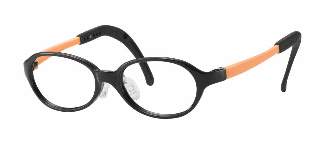 Kids Oval Frame (TKAC8) - Black and Orange