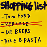 Shopping list Rice & Pasta