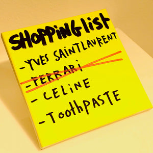 Shopping List Toothpaste