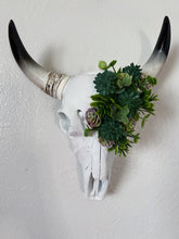 Load image into Gallery viewer, Succulent Mini Faux Cow Skull Florals Bohemian Wall Decor