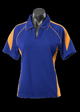 Load image into Gallery viewer, Ladies Premier Polo Royal/Gold