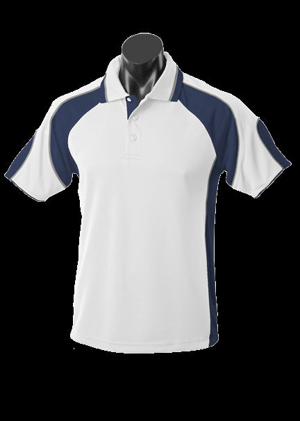Kids Murray Polo White/Navy