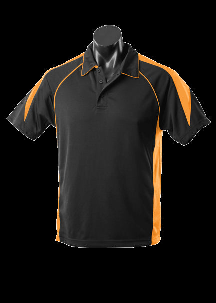Mens Premier Polo Black/Gold